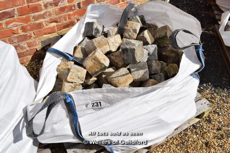 Lot 231 - *LARGE BAG OF 4 INCH GRANITE EDGING SETS