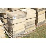 *PALLET OF FORTICRETE BUFF SINGLE WEATHER WALL COPING, APPROX 9 LINEAR METRES
