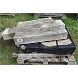 *PALLET OF GRANITE KERBS, APPROX 24 LINEAR FT, VARIOUS SIZES