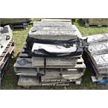 *PALLET OF APPROX TWENTY BALLUSTRADE STONE COPING SECTIONS, VARIOUS SIZES