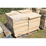 *PALLET OF APPROX FIFTY FORTICRETE SPECIAL FLAT COPING, EACH 600 X 470, 50MM THICK