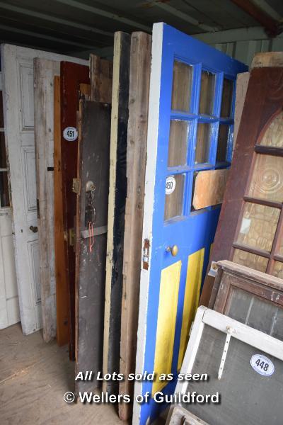 Lot 450 - *FIVE MIXED INTERNAL AND EXTERNAL DOORS