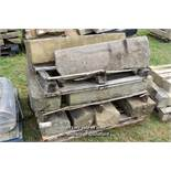 *PALLET OF MIXED STONE BLOCKS, APPROX 40 LINEAR FT, VARIOUS SIZES
