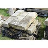 *PALLET OF FIVE GRANITE KERBS, APPROX 18 LINEAR FT, VARIOUS SIZES