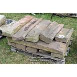 *PALLET OF MIXED SANDSTONE GULLY SECTIONS, APPROX 42 LINEAR FT, VARIOUS SIZES