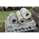 *PALLET OF EIGHT MIXED COMPOSITION STONE COLUMN SECTIONS