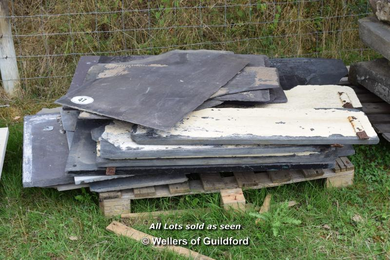Lot 47 - *PALLET OF APPROX TWENTY MIXED SLATE, VARIOUS SIZES