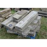 *PALLET OF YORKSTONE COPING/STEPS, APPROX 45 LINEAR FT, VARIOUS SIZES