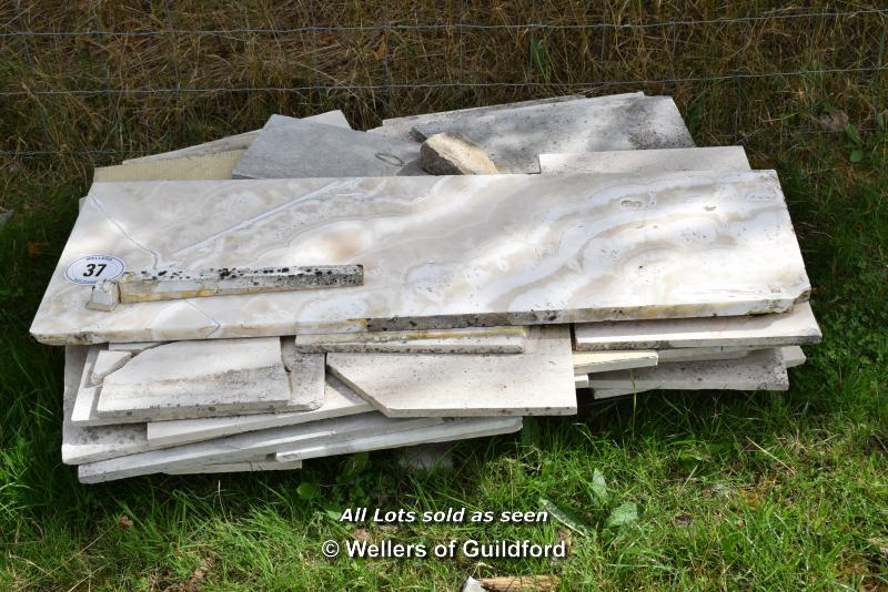 *PALLET OF MIXED SLABS, INCLUDING MARBLE