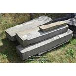 *PALLET OF APPROX FIVE STONE SILLS, VARIOUS SIZES