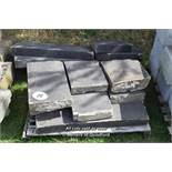 *PALLET OF APPROX TEN LIMESTONE COPING BLOCKS, VARIOUS SIZES
