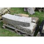 *PALLET CONTAINING TWO SANDSTONE BLOCKS AND TWO GRANITE RADIUS CURVES, APPROX 7 LINEAR FT, VARIOUS