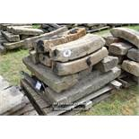 *PALLET OF SANDSTONE CURVES, APPROX 40 LINEAR FT, VARIOUS SIZES