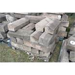 *PALLET OF SANDSTONE WINDOW SILLS/COPING, APPROX 40 LINEAR FT, VARIOUS SIZES