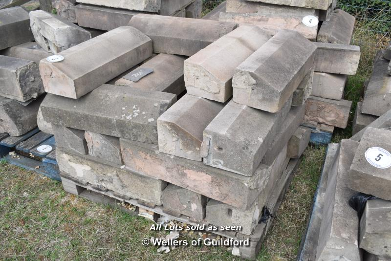 Lot 3 - *PALLET OF SANDSTONE WINDOW SILLS/COPING, APPROX 40 LINEAR FT, VARIOUS SIZES