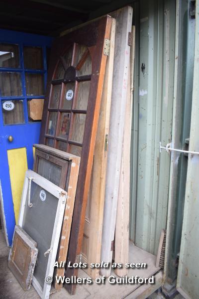 Lot 449 - *FIVE MIXED INTERNAL AND EXTERNAL DOORS