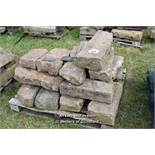 *PALLET OF GRANITE KERB STONE SECTIONS, APPROX 28 LINEAR FT, VARIOUS SIZES
