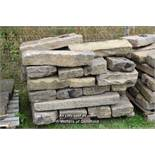 *PALLET OF SANDSTONE KERBS, APPROX 45 LINEAR FT, VARIOUS SIZES