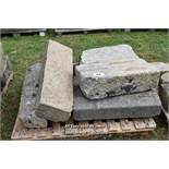 *PALLET OF GRANITE CURVES, APPROX 18 LINEAR FT, VARIOUS SIZES
