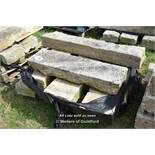 *PALLET OF EIGHT GRANITE KERBS, APPROX 28 LINEAR FT, VARIOUS SIZES