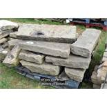 *PALLET OF SANDSTONE KERBS, APPROX 40 LINEAR FT, VARIOUS SIZES
