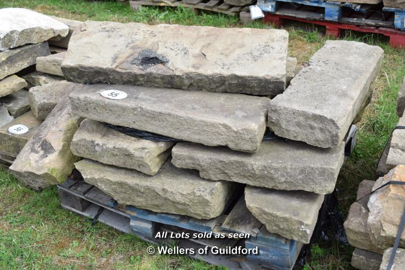 Lot 55 - *PALLET OF SANDSTONE KERBS, APPROX 40 LINEAR FT, VARIOUS SIZES