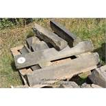 *PALLET OF APPROX EIGHT MIXED STONE SILLS, VARIOUS SIZES