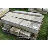 *PALLET OF SIX GRANITE KERBS, APPROX 21 LINEAR FT, VARIOUS SIZES
