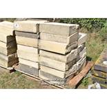 *PALLET OF FORTICRETE BUFF SINGLE WEATHER WALL COPING, APPROX 12 LINEAR METRES