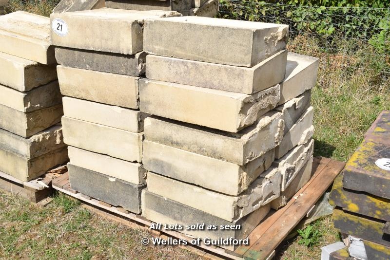 Lot 21 - *PALLET OF FORTICRETE BUFF SINGLE WEATHER WALL COPING, APPROX 12 LINEAR METRES