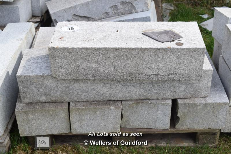 *PALLET OF MIXED CHINESE GRANITE CURVES/RADIUS CURVES, APPROX 6.5 LINEAR METRES