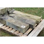 *PALLET OF THREE SANDSTONE SILLS, APPROX 10 LINEAR FT, VARIOUS SIZES
