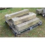 *PALLET OF SEVEN SANDSTONE SILLS, APPROX 21 LINEAR FT, VARIOUS SIZES