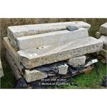 *PALLET OF EIGHT GRANITE KERBS, APPROX 32 LINEAR FT, VARIOUS SIZES