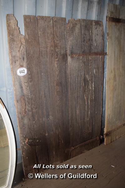 Lot 442 - *OAK DOOR, 1850 X 1270