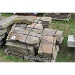 *PALLET OF APPROX TWENTY MIXED SANDSTONE BLOCKS, VARIOUS SIZES