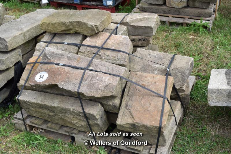 Lot 54 - *PALLET OF APPROX TWENTY MIXED SANDSTONE BLOCKS, VARIOUS SIZES