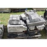 *PALLET OF APPROX ELEVEN BALLUSTRADE STONE SECTIONS, VARIOUS SIZES