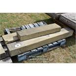 *PALLET OF THREE STONE SECTIONS, VARIOUS SIZES