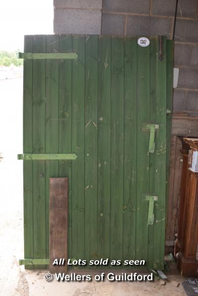 Lot 545 - *PAIR OF GREEN PAINTED STABLE DOORS, EACH 1240 X 2090
