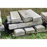 *PALLET OF NINE GRANITE KERBS, APPROX 30 LINEAR FT, VARIOUS SIZES