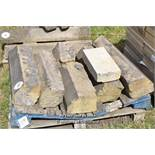 *PALLET OF APPROX SIX MIXED STONE SILLS, VARIOUS SIZES