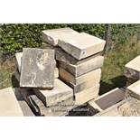 *PALLET OF FORTICRETE BUFF SINGLE WEATHER WALL COPING, APPROX 11.5 LINEAR METRES