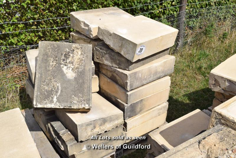 Lot 20 - *PALLET OF FORTICRETE BUFF SINGLE WEATHER WALL COPING, APPROX 11.5 LINEAR METRES