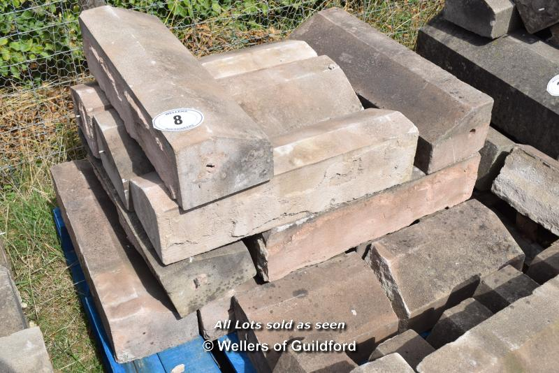 *PALLET OF SANDSTONE WINDOW SILLS/COPING, APPROX 30 LINEAR FT, VARIOUS SIZES