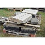 *PALLET OF GRANITE KERB CHANNEL BLOCKS, APPROX 12 LINEAR FT, VARIOUS SIZES