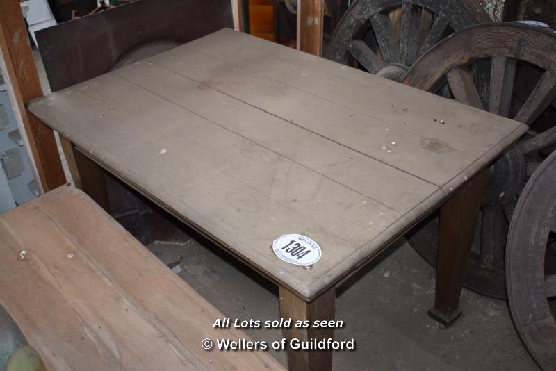 Lot 502 - *SIMPLE OAK TABLE, 1210 X 840 X 730