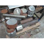 LOT OF RAW MATERIAL: barstock & shapes, in aluminum, stainless steel & mild steel grades