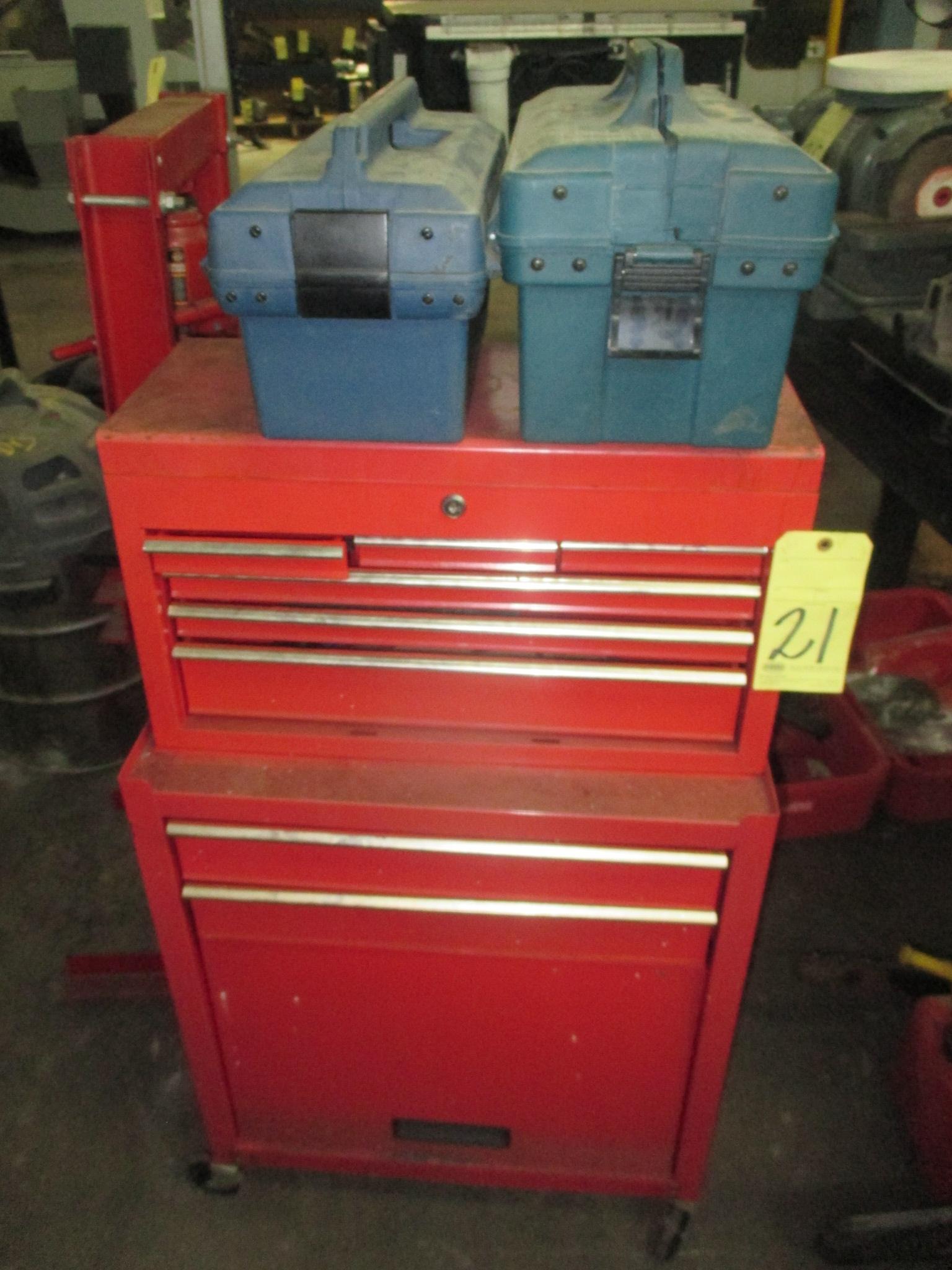 Lot 21 - TOOLBOX, red (no tools)