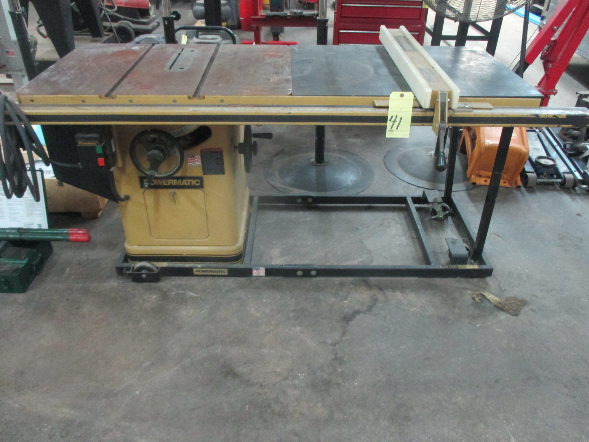 Lot 41 - TABLE SAW, POWERMATIC, 5 HP motor